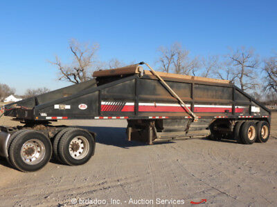 2012 Dakota T/A Bottom Dump Trailer 60K GVWR Belly Dump Tarp bidadoo