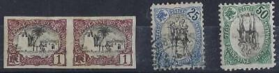 SOMALI COAST 1901 Sc 64 IMPERF PAIR & 25¢ & 50c Sc 70 75 BLACK CENTERS ONE INVE