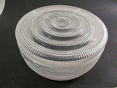 Vintage Round Frosted & Clear Glass Ceiling Light Fixture Shades Cover
