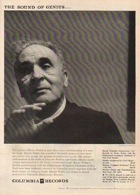 1955 Conductor Dr Bruno Walter Columbia Records NYC NY Fred Plaut Photo 1950s Ad