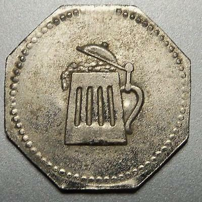 Germany-WW1 BEER ration coin-biermarke-lager token-rare German War coinage/jeton