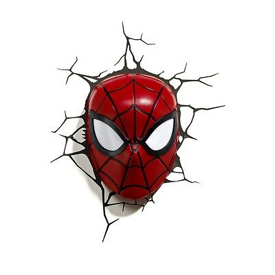 MARVEL LED lamp Light Wall SPIDERMAN Mask 3D Philips OFFICIAL Mask Light