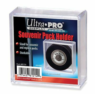 Ultra Pro Square Hockey Puck Holder Cube Case Stackable Souvenirs, Autographs