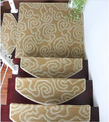 E45 Skid Resistance Household 5PCS Step Rug Stair Tread Mat Carpet 75X24CM Z