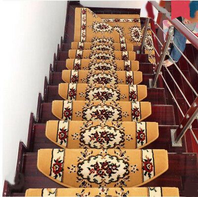 E29 5PCS Household Skid Resistance Step Rug Stair Tread Mat Carpet 80X24CM Z