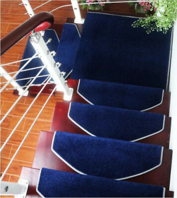 E42 Household 5PCS Step Rug Stair Tread Mat Skid Resistance Carpet 80X24CM Z