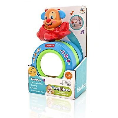 Fisher Price Crawl Along Musical Ball Baby Activity Push Toy - Baby Learning Toy