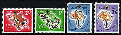 Ghana 1958 Accra Conference SG189/92 MNH