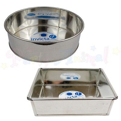 "Invicta High Quality Professional Cake Tin Pans Bakeware Sugarcraft 6"" to 14"""