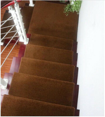 E48 5PCS Skid Resistance Household Step Rug Stair Tread Mat Carpet 65X24CM Z