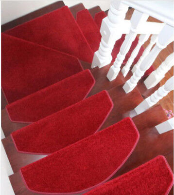 E47 Skid Resistance Household 5PCS Step Rug Stair Tread Mat Carpet 100X24CM Z
