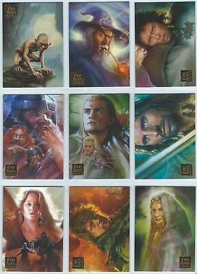 2006 Topps Lord of the Rings Masterpieces LOTR Complete 1-90 Card Base Set
