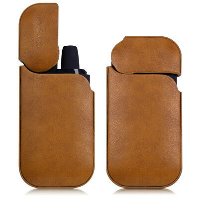 Cover For Iqos Pocket Charger Synthetic Leather Protective Case Brown Cigarette