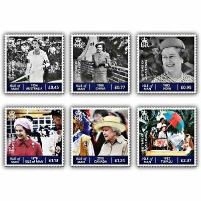 Isle of Man 2017 Sapphire Jubilee - The Globetrotting Queen Set (CTO)