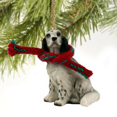 English Setter Blue Belton Dog Tiny One Miniature Christmas Holiday ORNAMENT