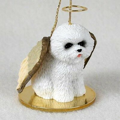 BICHON FRISE Dog ANGEL Tiny One Ornament Figurine Statue