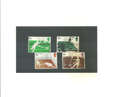 GB 1977 Racket Sports          set of 4 used stamps