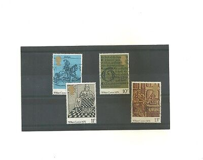 GB 1976 500th Anniversay of British Printing            set of 4 used stamps