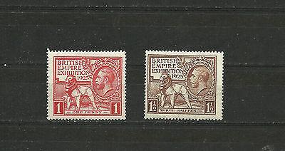 Great Britain 1925 Wembley Exebition see photo for condition SG 432 433  MNH