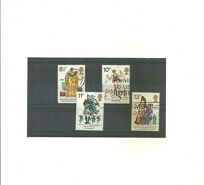 GB 1976 British Cultural Traditions            set of 4 used stamps