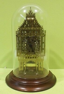 Hermle Big Ben Skelet/Pendeluhr 791-681 mit Glasglocke -1988 FM- Made in Germany