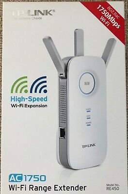TP-Link AC1750 RE450 WiFi Wireless Dual Band Range Extender Booster + 3 Antennas
