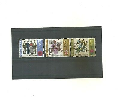 GB 1971 British Anniversaries        set of 3 used stamps