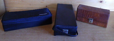 3 x Vintage Cassette Tape Carrying Storage Cases