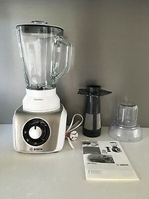 BOSCH MMB64G3MDE Standmixer Silent Mix 800 W, Thermo Save Glas, Smoothie *NEU*