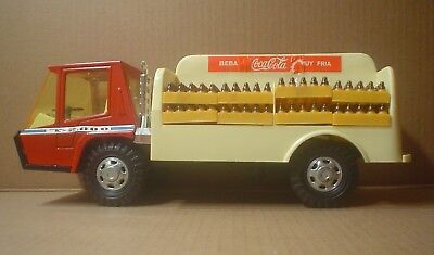 Coca-Cola Metal & Plastic Tigré 2000 Delivery Truck with 12 Cases ~ Gozan Spain