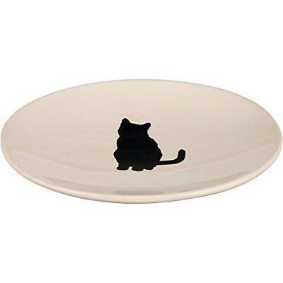 Trixie Ceramic Bowl For Cats, White, Pack Of 1 - Cats Flat White New Fish