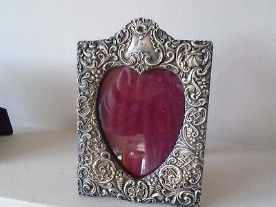 """Beautiful Repousse Large 7.5"""" Antique Year 1899  Hallmarked Silver Photo Frame"""