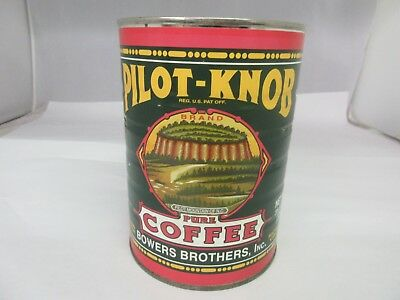 Vintage Pilot-Knob Coffee With Original Lid  Advertising Collectible   405-Z