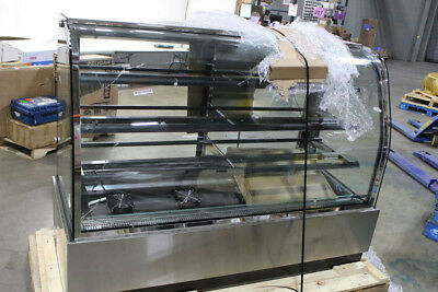 """Cold Deli Showcase 37930 70""""W Curved Glass Refrigerated Display Case"""