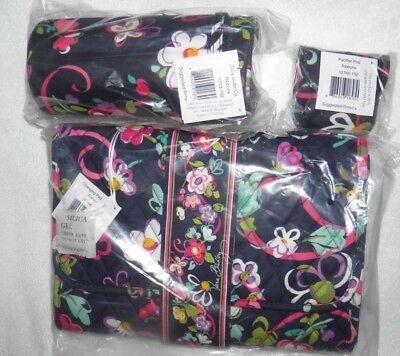 NEW Vera Bradley BABY RIBBONS DIAPER CHANGING PAD CLUTCH BOTTLE CADDY PACI POD