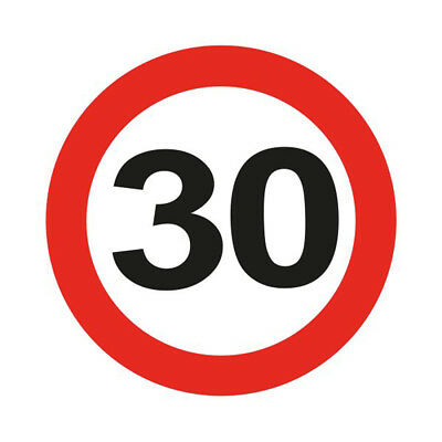 30Th Birthday Party Giant 12Cm Flashing Led Badge Age Traffic Signs