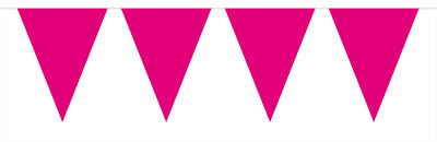 Cerise Bright Pink Coloured Flag Party Bunting 15 Flags 10M Party Decoration
