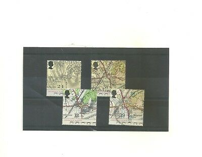 GB 1991 Bicentenary of Ordnance  Survey Maps   4 used   stamps