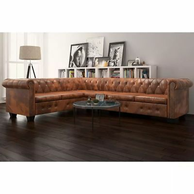 chesterfield xxl 270cm big sofa couch leder sofa 5 sitzer. Black Bedroom Furniture Sets. Home Design Ideas