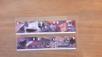 Isle Of Man -Titanic 6 Set - New - Stamps 2012