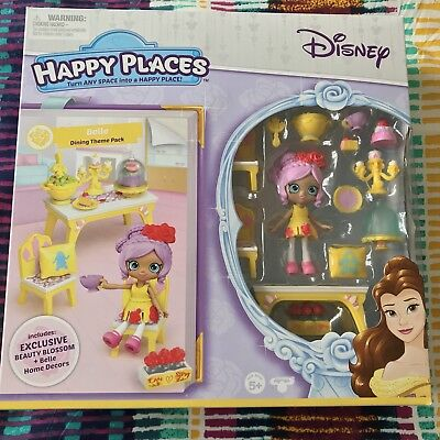 Shopkins Happy Places Disney Belle Beauty And The Beast Set With Doll New