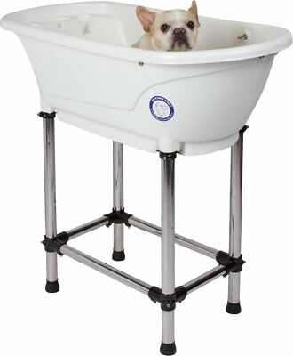 "Flying Pig Pet Dog Cat Washing Shower Grooming Portable Bath Tub White, 37.25""x"