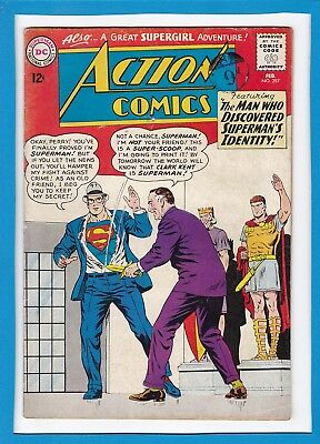Action Comics #297_February 1963_Good/very Good_Superman_Supergirl_Silver Age!