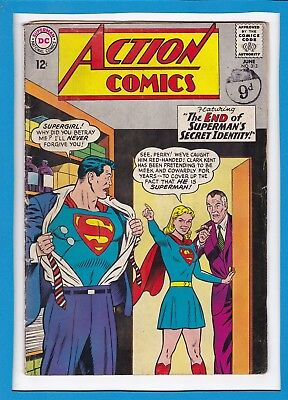 Action Comics #313_June 1964_Good/very Good_Superman_Supergirl_Silver Age Dc!