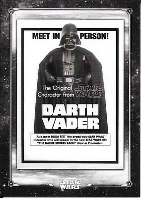 2018 Topps Star Wars Black White A New Hope  #PO-10 Darth Vader in Person!