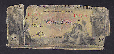 1935 Canada Commerce 20 Dollars Chartered Bank Note