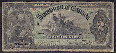 1897 Dominion Of Canada 2 Dollars Bank Note