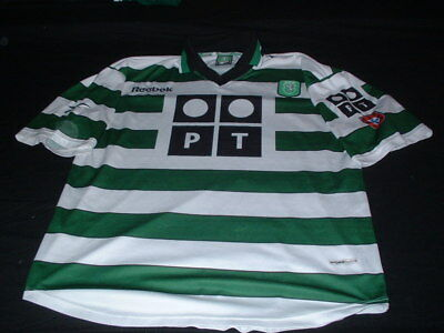 Sporting Clube de Portugal Football XL Extra Large Mans Vintage Reebok Home Top
