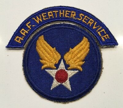 Original WWII USAAF U.S. ARMY AIR FORCE PATCH AAF WEATHER SERVICES TAB