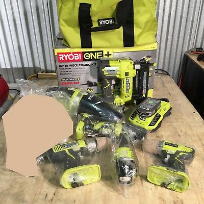 Ryobi P1843 18 Volt ONE+ INCOMPLETE 10-Piece Cordless Tool Kit (ONLY 6 PIECES)